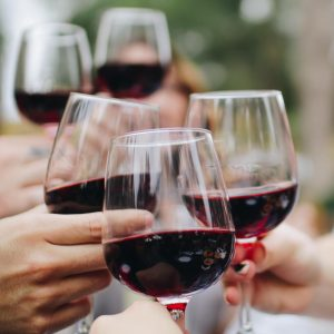 Red wine alcohol